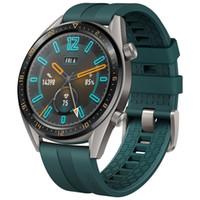 Original Huawei Uhr GT Smart Watch mit GPS-NFC-Puls-Monitor 5 ATM wasserdicht Armband Sports Tracker Uhr für Android iPhone iOS