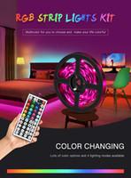 LED 테이프 스트립 조명 RGB 16.4ft / 5M SMD 5050 DC12V 유연한 레 스트립 조명 50LED / 미터 16Different 정적 색상