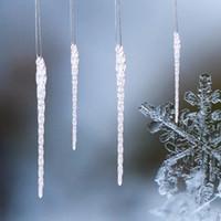 1 juego de 4pcs de Navidad Borrar los ornamentos de cristal Decoración de la Navidad 5 0,5 pulgadas árbol de Navidad colgando colgante Decoración