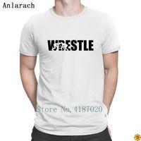 Wrestle T-shirt T-shirt Carino stampa costruzione Anlarach o collo Trendy Uomo Estate superiore originale del