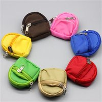 사랑스러운 인형 변경 옷 배낭 BJD 작은 Schoolbag 더블 데크 지퍼 포켓 지갑 인형 액세서리 새로운 디자인 3 7sjH1