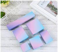 [DDisplay] Modern Sanat Mavi Mor Degrade Renk Mücevher Kutusu Yaratıcı Kapak ve Tepsi Halka Kılıfları Küpe Takı Ekran Kolye Paketi Kutusu