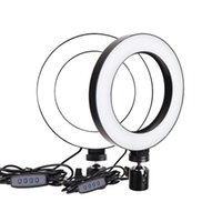 DHL 6inch Mini LED Desktop Ring Light Stepless Dimming With ...
