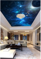 Personalizzato foto 3D sfondo soffitto di seta materiale zenit murale Space Dream hotel planet hall soffitto zenith murale