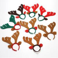 Christmas Head Buckle Elk Hair Hoop Reindeer Paint Headband Deer Horn Kids Dorośli Włosów Akcesoria Party Festival Decoration JK1910