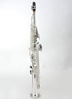 MARGEWATE Soprano Düz Boru Saksafon Yüksek Kalite Pirinç Kasa ile Müzik Aletleri Güzel Gümüş Kaplama Sax Ücretsiz Kargo