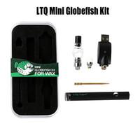 Kit LTQ Mini Globefish Kit WAX Kit LTQ Vapor Mini Globefish Vape Pen Embutido 380mAh Bobina de Cerâmica 510 Fio Com Atomizador Globo