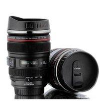 فنجان القهوة 420ml كاميرا الفولاذ المقاوم للصدأ بطانة عدسة أكواب القهوة والشاي كأس هدايا Thermocup فراغ Thermomug
