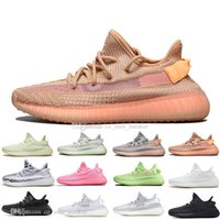 Mit Box Mode Kanye West Clay V2 Statische Reflektierende GID Glow In The Dark Herren Laufschuhe Wahre Form Frauen Männer Sport Designer Turnschuhe