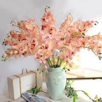 الزهور الزخرفية أكاليل الديكور فراشة السحلية phalaenopsis الاصطناعي اللاتكس بساتين الفاكهة زهرة لحفل الزفاف