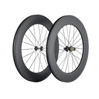700C لايحتاج 88mm والعجلات الكربون الطريق دراجة 3K نسج ماتي الكربون عجلات 271 المحور سباق العجلات