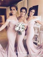 2019 Cheap Country Style Rose fard à joues robe de demoiselle d'honneur Pucelle élégante robe de soirée de mariage robe taille plus Vestidos damas de l'honneur