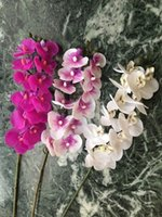 12 رؤساء 57 سنتيمتر مصغرة الاصطناعي زهرة phalaenopsis اللاتكس السيليكون ريال لمسة البسيطة الأوركيد الأوركيد الزفاف عالي الجودة