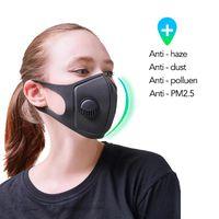 US Stock Coslony unisexe éponge anti-poussière PM2,5 pollution moitié visage bouche Masque Breath large sangles lavable réutilisable moufles respirateurs