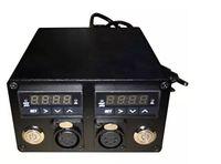 110 فولت -280 فولت مزدوجة الرقمية متر الحرارة الصحافة مربع درجة الحرارة المزدوج PID تحكم التتابع SSR جاك لروزين الصحافة