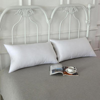 Beyaz Yastık takın Fermuar Kapatma Kapalı Açık Dikdörtgen Yastık Otel Ana Yastık Bel pillowslip takın CCA11205-A 100pcs atın