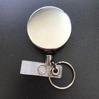 개폐식 풀 배지 릴 ID 매는 밧줄 이름 태그 카드 배지 홀더 릴 반동 벨트 열쇠 고리 체인 클립