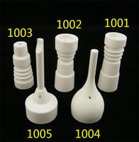 Uñas de cerámica sin hogar de 14 mm / 18 mm con junta hembra de vidrio macho / hembra, hechas de un clavo de cerámica / cerámico. Clavo de cerámica sin hogar de Domic
