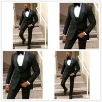 Fashion Men Suits for Groom Wedding Tuxedos shawl Lapel Custom Male Blazer 3 Piece Men Jacket Pants Vest Can Be customized A80