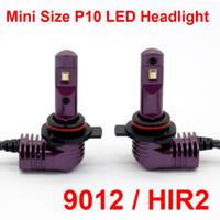 1 세트 초소형 미니 크기 CSP 칩 9012 HIR2 P10 LED 헤드 라이트 1 : 1 오리지널 램프 터보 팬 포커스 빔 35W 5200lm 6000K 안개