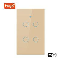 Smart Electronic White Color Automation WIFI 4 Gang Light Home Switch Supporto Smart Life e Tuya App