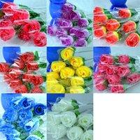День святого Валентина Подарки Искусственные цветы Искусственные цветы Розы Single Rose Валентина Персиковые Розы Для дома Свадебные украшения XD23107