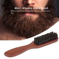 Escova Beard de homens de madeira bigode Comb Masculino Shaving Brush escova de cabelo Facial