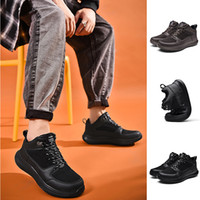 Hecho en China Top Moda Mujeres Hombres Running Shoes Negro Café Cuero Invierno Mantenga Cálido Deportes Zapatillas Deportes Para Hombre Entrenadores Homemade Marca