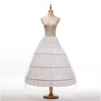 Top-Qualität Weiß 3-Band-Petticoat KRINOLINESLIPUNDERSKIRT Für Hochzeits-Kleid plus Größe Hochzeit Petticoats CPA1237