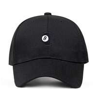 8 Ball - black Unstructured dad hat fashion Baseball Caps Hi...