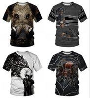 Novedad Animal Jabalí T Shirts Hombres Mujeres Camiseta de manga corta Homme Plus Size Summer Camisetas Hombre Dropship
