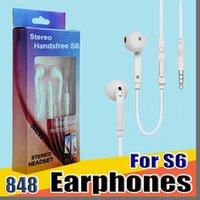 848B في سماعات الأذن سماعات الأذن سماعة خالية earset مع حجم هيئة التصنيع العسكري تحكم سماعة لسامسونج S6 S7 S8 الروبوت الهاتف
