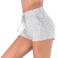 de yoga lâche haute Drawstring couleur unie taille d'été design athlétique des femmes de short de concepteur d'athlétisme