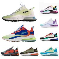 Nike air max 270 react shoes 2019 Grey Orange Travis Scott X React mens running shoes BAUHAUS Hyper Jade Summit White Electro Green OPTICAL men sports sneakers 36-45