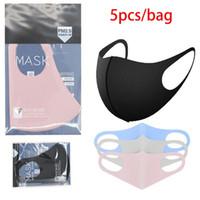 5pcs / Máscaras saco DHL partido face da tampa PM2.5 Máscara Respirador Dustproof washabel Reusabel Protective Ice Silk algodão Máscaras boom2016