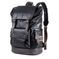 sportivi in pelle zaino degli uomini Anti Theft backbags portatili epoca sacchetto maschio di scuola del computer di viaggio bagpack per i ragazzi