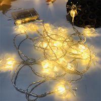 Led Halloween Spider Lampe String Citrouille Squelette Humain Partie Chaîne D'éclairage Chaînes D'affichage Fenêtre Décorez La Corde À La Lumière Vendre Bien 5 5jq J1