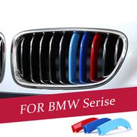 Car coiffe 3D m grille de la grille de la grille de la voiture Couverture Stickers Motorsport Stickers pour BMW 1 3 5 7 Série X3 x4 x5 x6