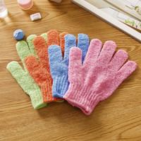 Увлажняющий спа уход за кожей ткань ванна перчатки отшелушивающие перчатки ткань скруббер лицо тела банные перчатки бесплатная доставка