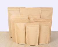 Brown Kraft alluminatura sacchetto, Stand up carta kraft foglio di alluminio di tenuta busta richiudibile Grip Food Grade