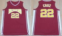 22 Timo Cruz Película de baloncesto Jersey ventas al por mayor de la manera más bajo Precio Timo Cruz Colegio jerseys Todo cosido hombres libres del envío