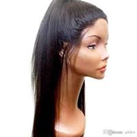 360 de encaje completa pelucas del pelo humano Pre desplumados Yaki derecho para las mujeres sin cola brasileña del pelo Luz Yaki peluca de encaje Parte gratuito