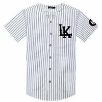 2018-2019 Hot Selled Homens T-shirt Da Moda Streetwear Hip Hop Jersey Camisa Listrada Homens Roupas Tyga Última Reis Roupas Y19072001