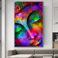 1 Panel Buddha Painting Colorful Canvas Prints Wall Art For ...