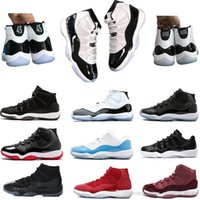 Concord 45 platinum tint 11 basketball shoes 11s red black C...