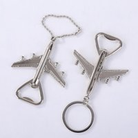 Creative Aircraft Key Chain Bottle Opener Silver Airplane Ke...