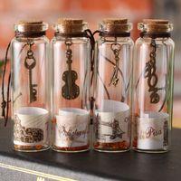 الرجعية الرغبات زجاجة مصغرة العالم المشهد محظوظ زجاجة الفلين زجاجة الانجراف زجاجة عيد الحزب هدية للأصدقاء ديكور المنزل