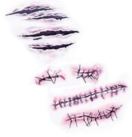 Новые Прибытия Хэллоуин Зомби Шрамы Татуировки С Поддельной Кровью Парши Специальный Костюм Макияж