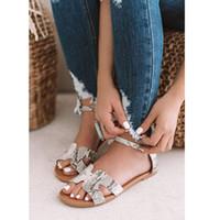 Sıcak satış-Moda Düz Sandalet Kadın Ayakkabı Kadınlar Gladyatör Sandalet Leopar Yılan Terlikler Bayan Ayakkabı Slaytlar P25 yazdır Ayakkabı