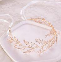 2019 de Europa y América del hairband caliente de cristal de punto manualmente tocado nupcial accesorios vestido de novia fabricantes de ventas directas